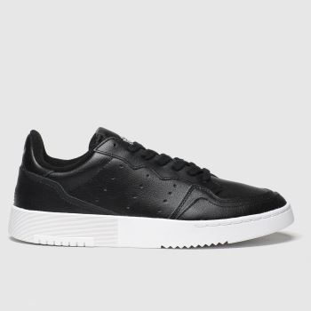 adidas Black Supercourt Yth Unisex Youth