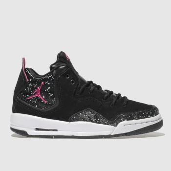 Nike Jordan Black & pink Courtside Unisex Youth