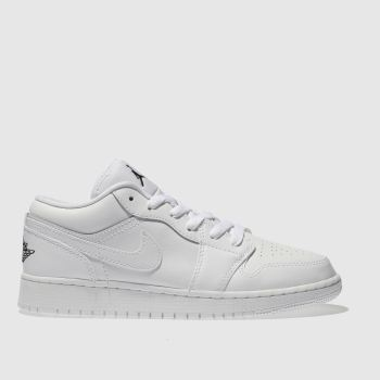 Nike Jordan White 1 Low Unisex Youth