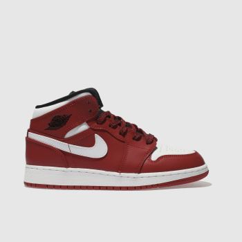 Nike Jordan Red 1 Mid Unisex Youth