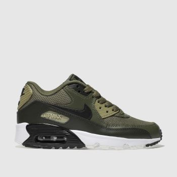 Nike Khaki Air Max 90 Mesh Unisex Youth