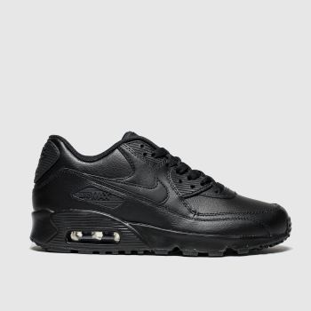 Nike Black AIR MAX 90 LEATHER Unisex Youth