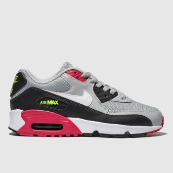 Nike Grey & Black AIR MAX 90 MESH Unisex Youth
