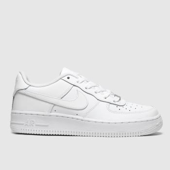 online retailer 3ab27 f5863 Nike White Air Force 1 Unisex Youth