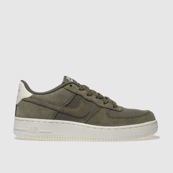 nike khaki air force 1 trainers youth