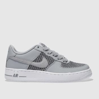 Nike Grey Air Force 1 Unisex Youth