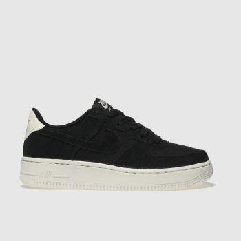 Nike Black & White Air Force 1 Unisex Youth