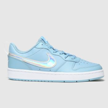 Nike blue court borough low 2 fp trainers youth