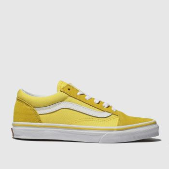 VANS YELLOW OLD SKOOL TRAINERS YOUTH