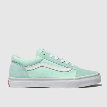 vans pale blue old skool trainers youth