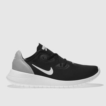 NIKE BLACK & GREY HAKATA YOUTH TRAINERS