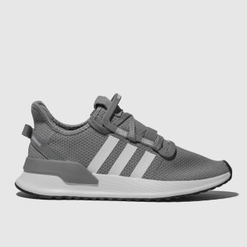adidas grey u_path run trainers youth