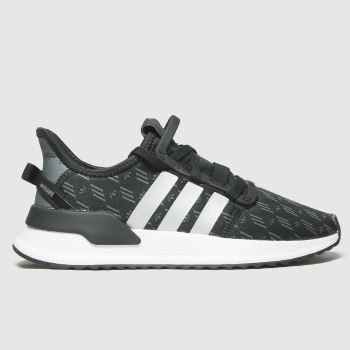 adidas Black & Silver U_path Run Unisex Youth#