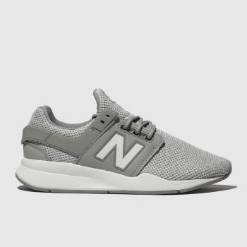 new balance grey 247 v2 trainers youth