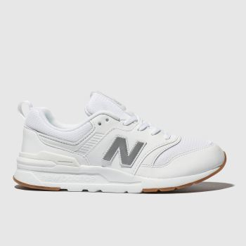 NEW BALANCE WHITE 997H TRAINERS YOUTH
