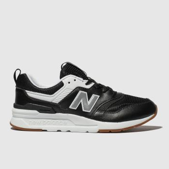 New balance black & white 997h trainers youth