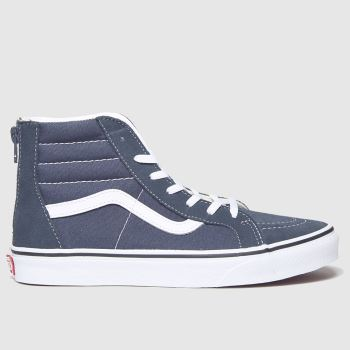 Vans Navy Sk8-hi Zip Unisex Youth