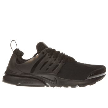 NIKE BLACK PRESTO YOUTH TRAINERS