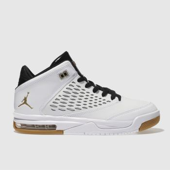 low priced 74088 f1538 Kids Unisex white & gold nike jordan flight origin 4 ...
