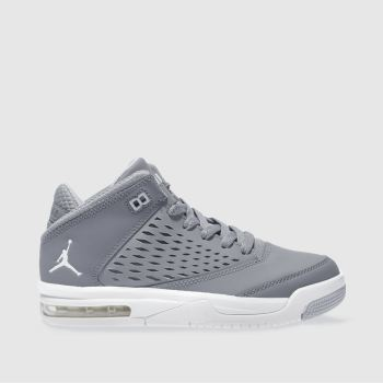 Nike Jordan Grey Nike Flight Origin 4 Unisex Youth