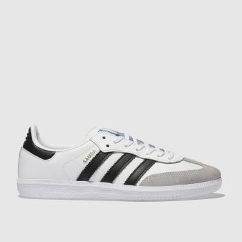 Adidas White & Black Samba Og Unisex Youth