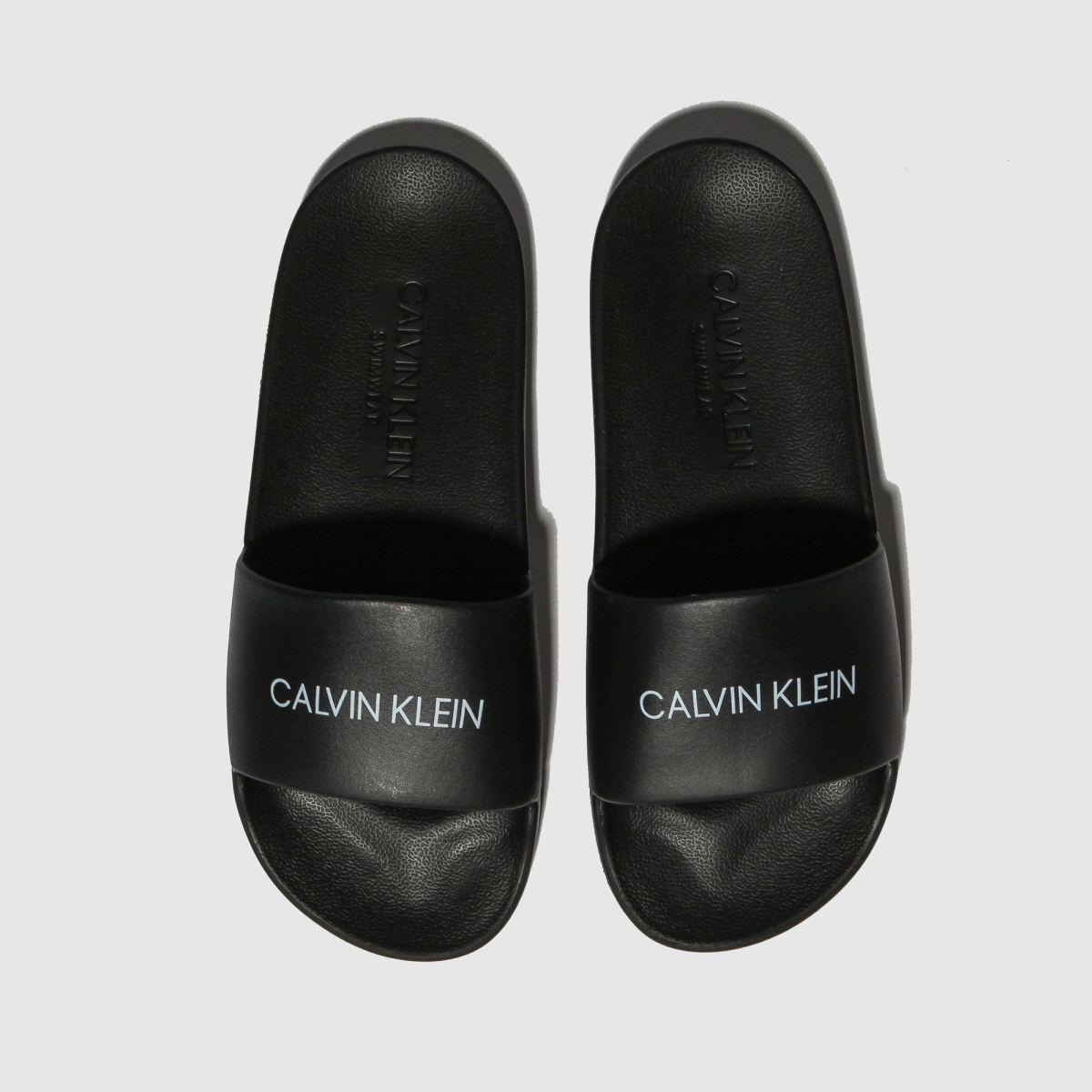Calvin Klein Black Slides Sandals Youth