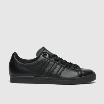 adidas black coast star trainers youth