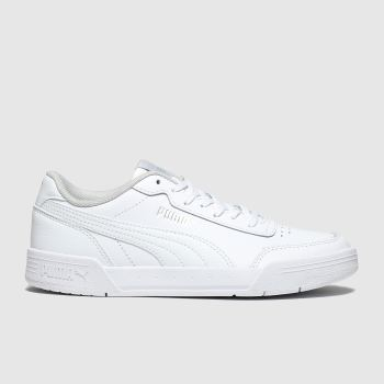Puma White Caracal Unisex Youth