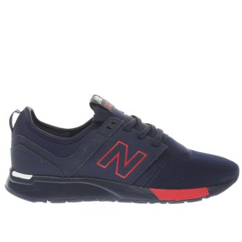 NEW BALANCE NAVY 247 TRAINERS YOUTH