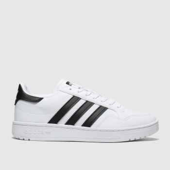 Adidas White & Black Team Court c2namevalue::Unisex Youth