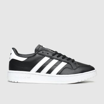 adidas Black & White Team Court Unisex Youth