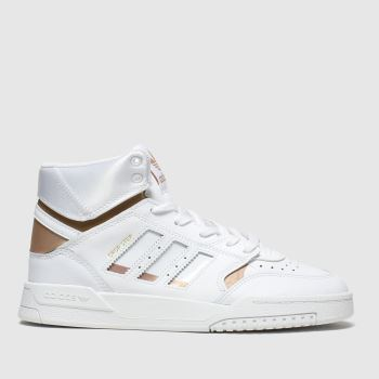 Adidas White & Gold Drop Step Unisex Youth