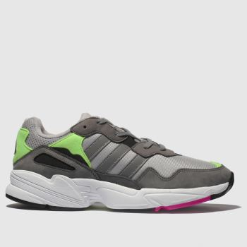 ADIDAS GREY YUNG 96 TRAINERS YOUTH