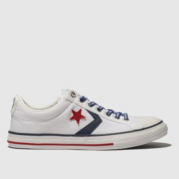Converse White & Navy Star Player Ev Lo Unisex Youth