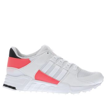 ADIDAS WHITE EQT SUPPORT YOUTH TRAINERS