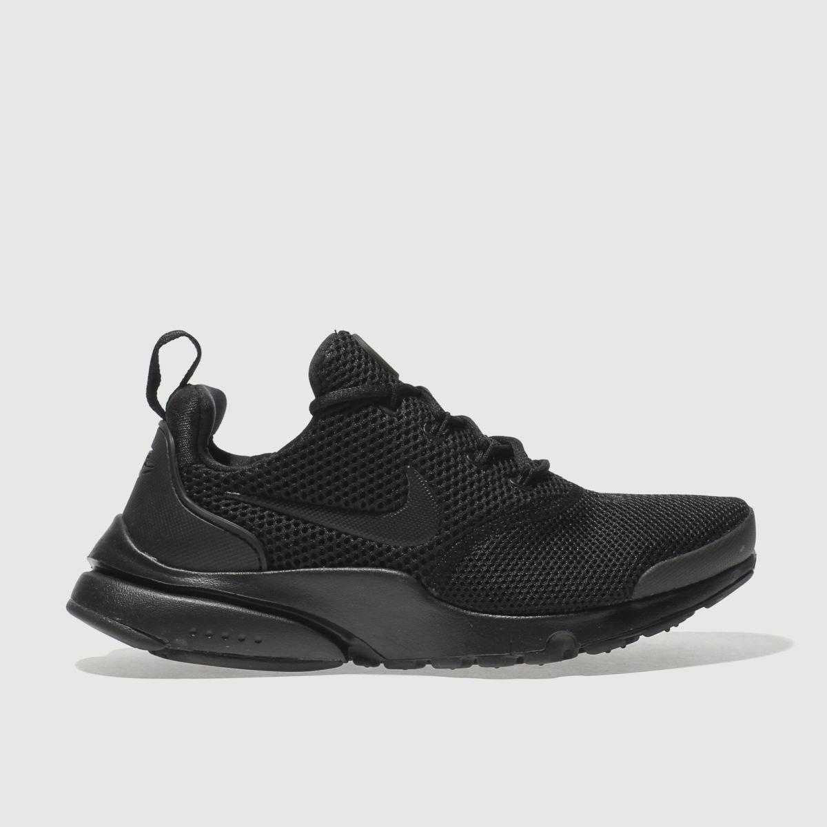 Kids Unisex Black Nike Presto Fly Trainers Schuh