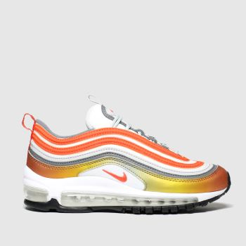 Nike White & Orange Air Max 97 Se Unisex Youth