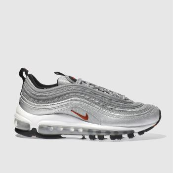 NIKE SILVER AIR MAX 97 YOUTH TRAINERS