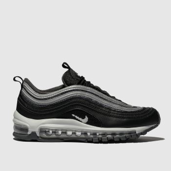 NIKE BLACK & SILVER AIR MAX 97 Y2K TRAINERS YOUTH
