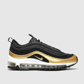 Nike Black & Gold Air Max 97 Unisex Youth