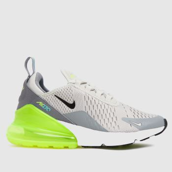 Nike Grey & Lime Air Max 270 Unisex Youth