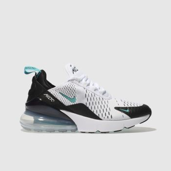 NIKE WHITE & PL BLUE AIR MAX 270 YOUTH TRAINERS