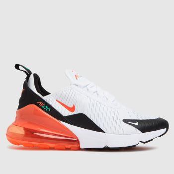 Nike White & Orange Air Max 270 Unisex Youth