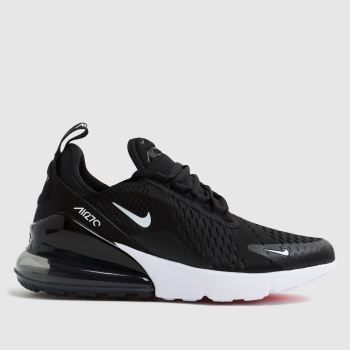 new concept 8f2f5 c5c24 Nike Black   White Air Max 270 Unisex Youth