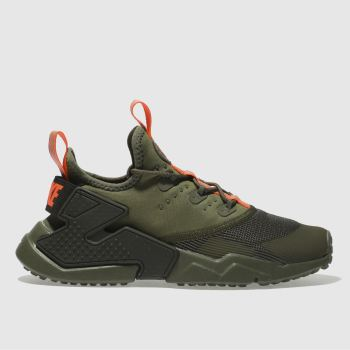 NIKE KHAKI HURACHE RUN DRIFT TRAINERS YOUTH