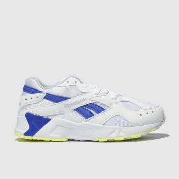 Reebok White & Blue Aztrek Unisex Youth