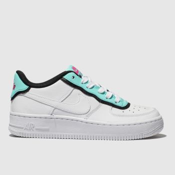Nike White & Blue Air Force 1 Unisex Youth