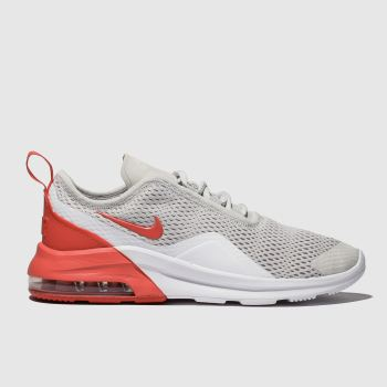 nike light grey air max motion 2 trainers youth