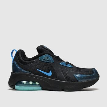 nike black and blue air max 200 baby dragon trainers youth