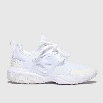 Nike White Presto React Unisex Youth